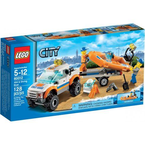 60012 LEGO® City 4x4 & Könnyűbúvár hajó