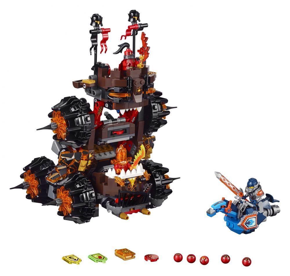 70321 lego® nexo knights™ magmar tábornok végzetes ostromgép