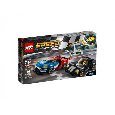 75881 LEGO® Speed Champions 2016-os Ford GT és 1966-os Ford GT40