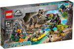 75938 LEGO® Jurassic World™ T. rex és Dino-Mech csatája