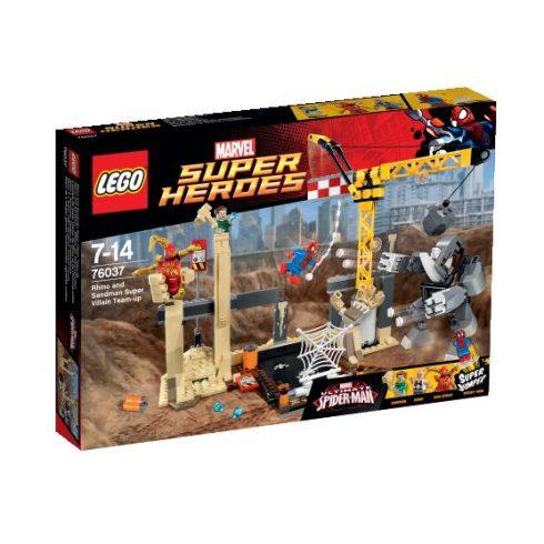 76037 LEGO® Super Heroes Rhino és a szuper gonosz Homokember egyesítik erőiket
