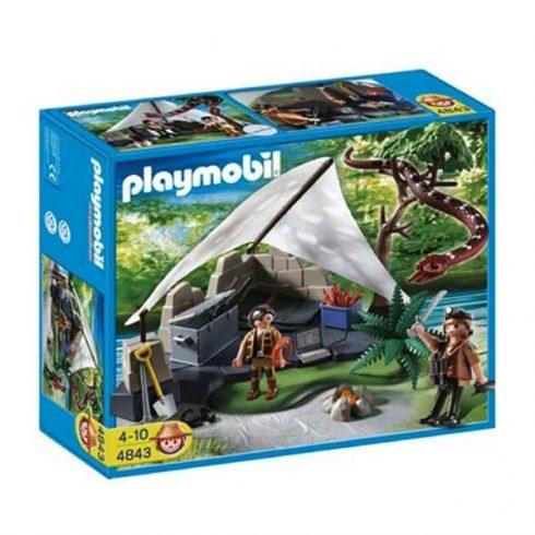 Playmobil Action 4843 Kincskeresők tábora hatalmas óriáskígyóval