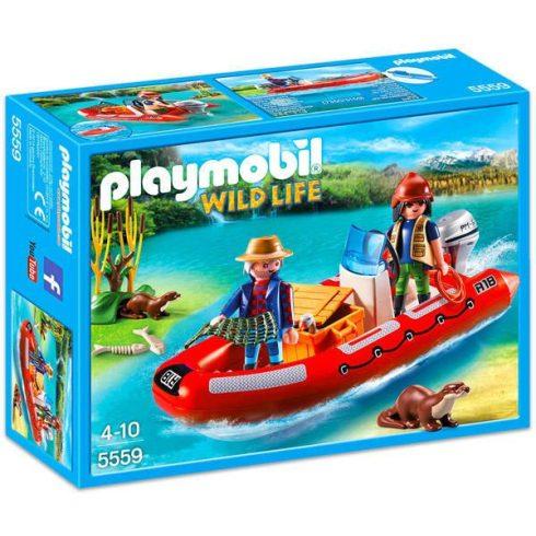 Playmobil Wild Life 5559 Vidramentő motorcsónakkal