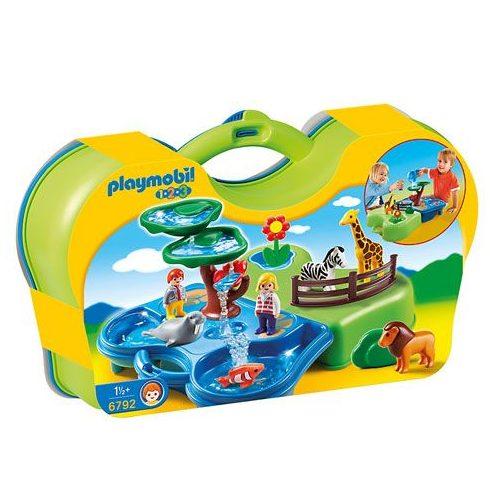 Playmobil 1.2.3 6792 Locsipocsi hordozható állatkertem
