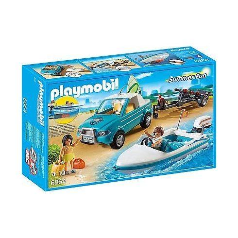 Playmobil Summer Fun 6864 Szörf szállító autó motorcsónakkal