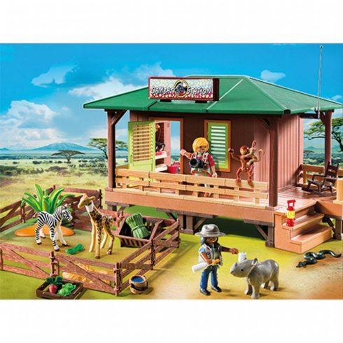 Playmobil Wild Life 6936 Vadőrbázis karámmal