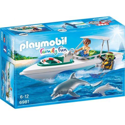 Playmobil Family Fun 6981 Merülés motorcsónakkal