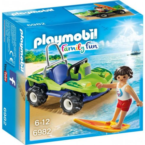 Playmobil Family Fun 6982 Szörfös homokfutóval