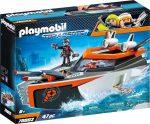 Playmobil Top Agents 70002 Titkos ügynökök hadihajója