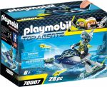 Playmobil Top Agents 70007 S.H.A.R.K. csapat rakéta vetős jetskije