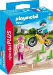 Playmobil 70061 Gyerekek görkorival és BMX-el