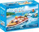 Playmobil Family Fun 70091 Motorcsónak vizi fánkokkal