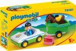 Playmobil 70181 1-2-3 Autó lószállítóval