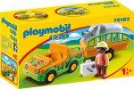 Playmobil 1.2.3 70182 Állatkerti jármű orrszarvúval