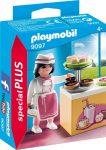 Playmobil 9097 Cukrászlány süteményes pulttal