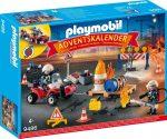 Playmobil 9486 Adventi naptár - Tűzoltás az építkezésen